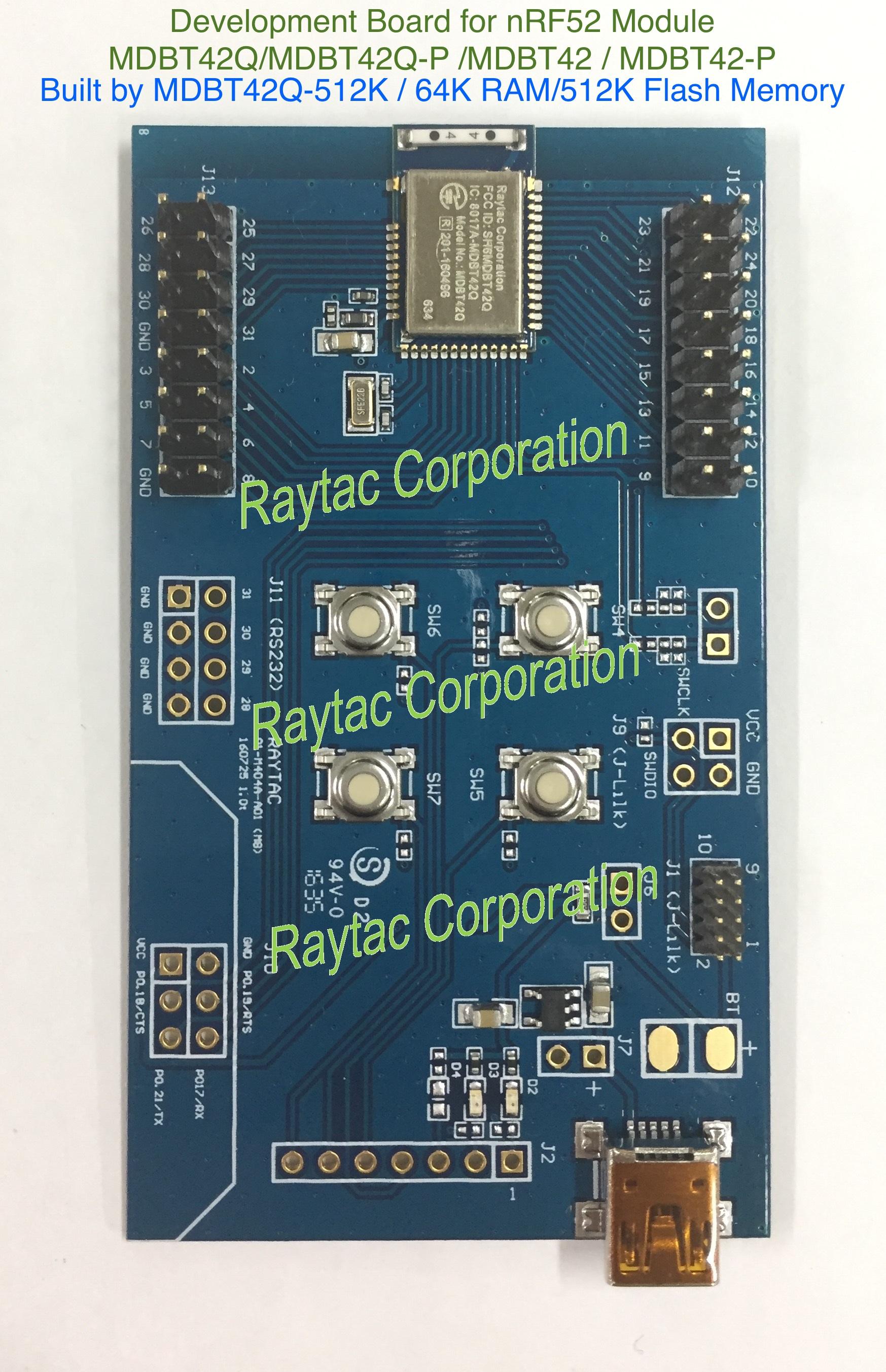 Raytac — How to use Raytac MDBT42Q (Nordic nRF52832) Demo