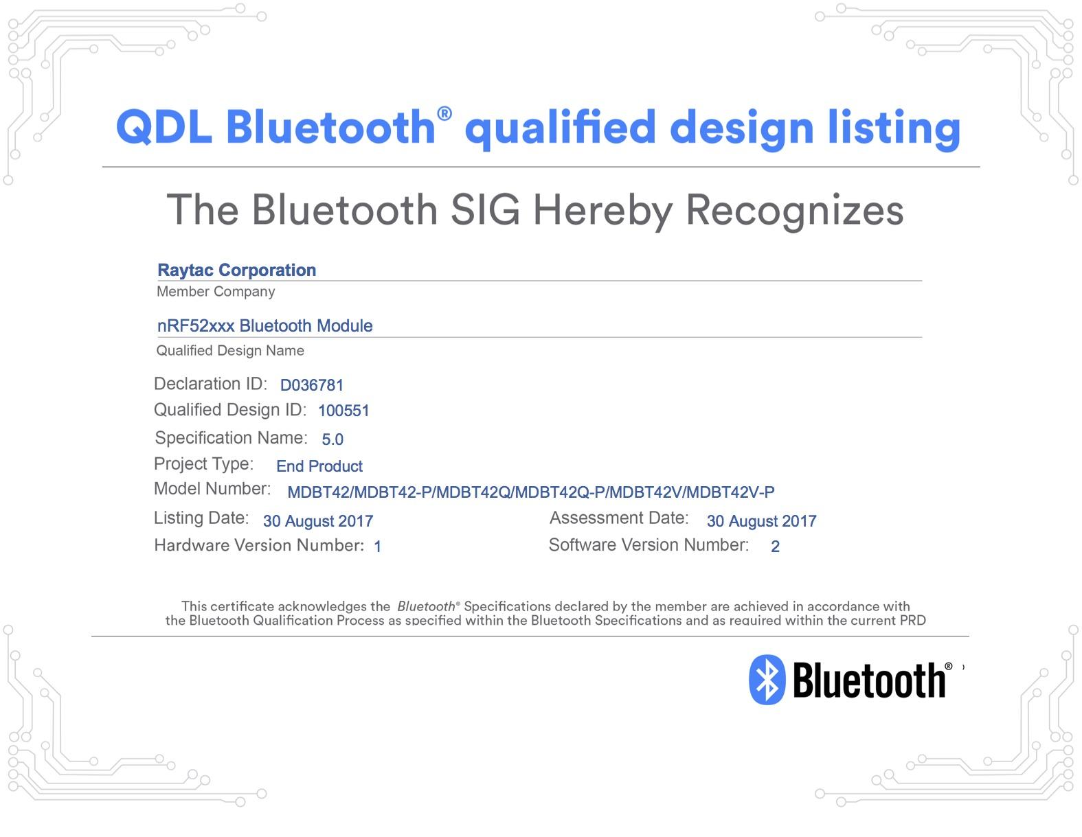 BT5 Certificate-D036781