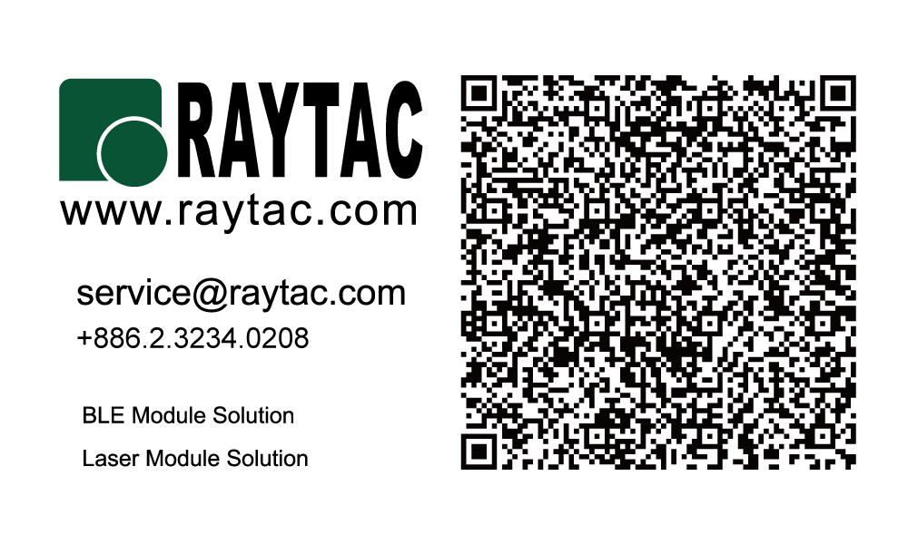 Raytac QR Code-BLE&Laser-Landscape