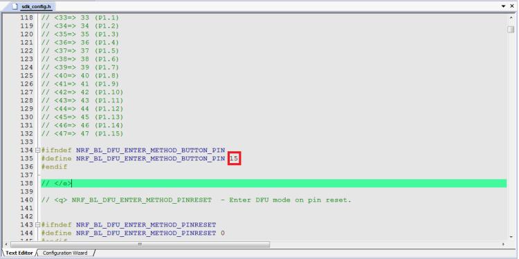 Modify Button GPIO