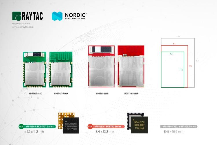 Nordic nRF52805 & nREF52820 Module